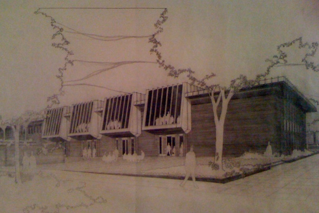 Drawing of Fine Arts Center.