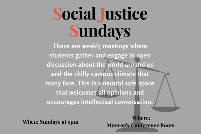 Social Justice Sundays - a weekly event in Eco House