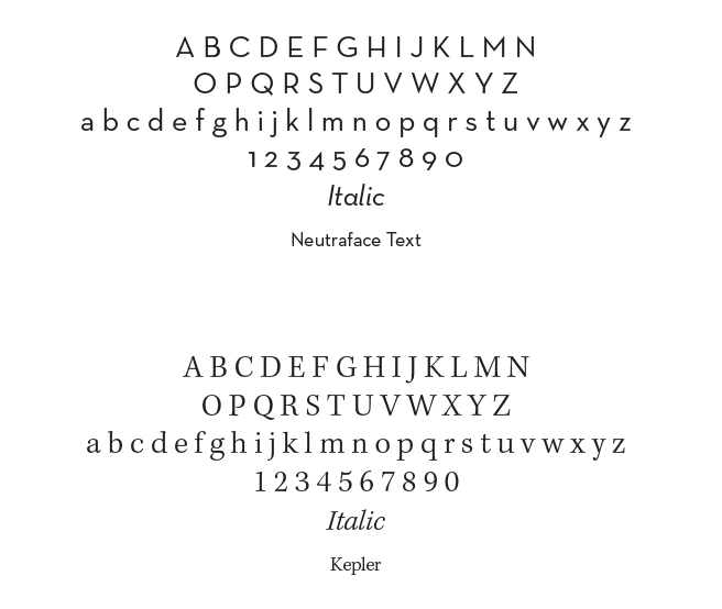 primary fonts