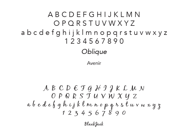 secondary fonts