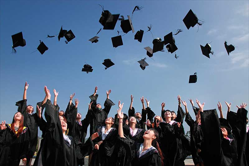 stock photo of graduates