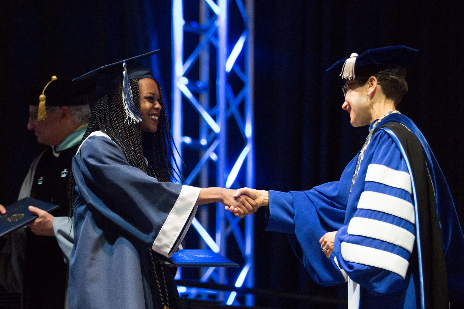 Commencement, accepting diplomas