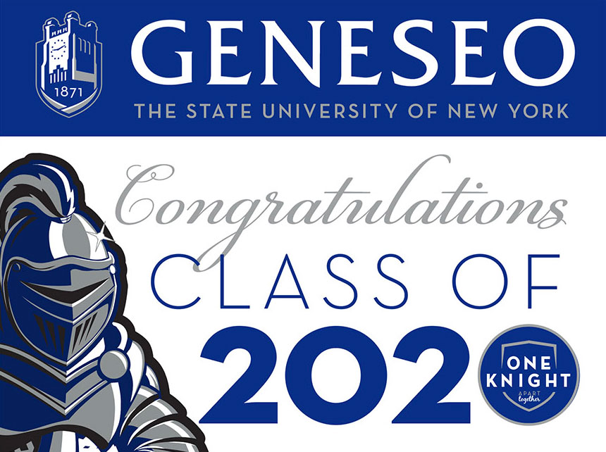 class of 2020 lawn sign