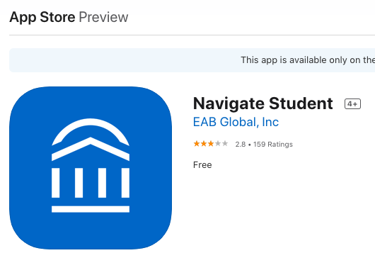 Navigate Student App icon from the Apple Store