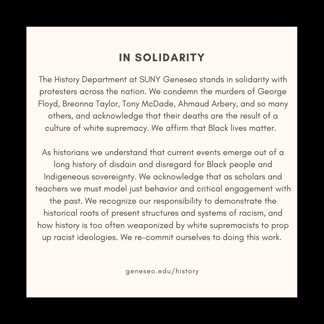 History statement of solidarity