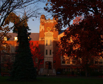 Geneseo campus in fall.
