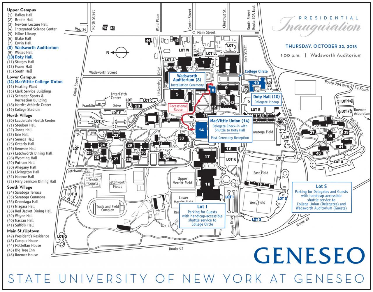 Geneseo Campus Map | Country Map