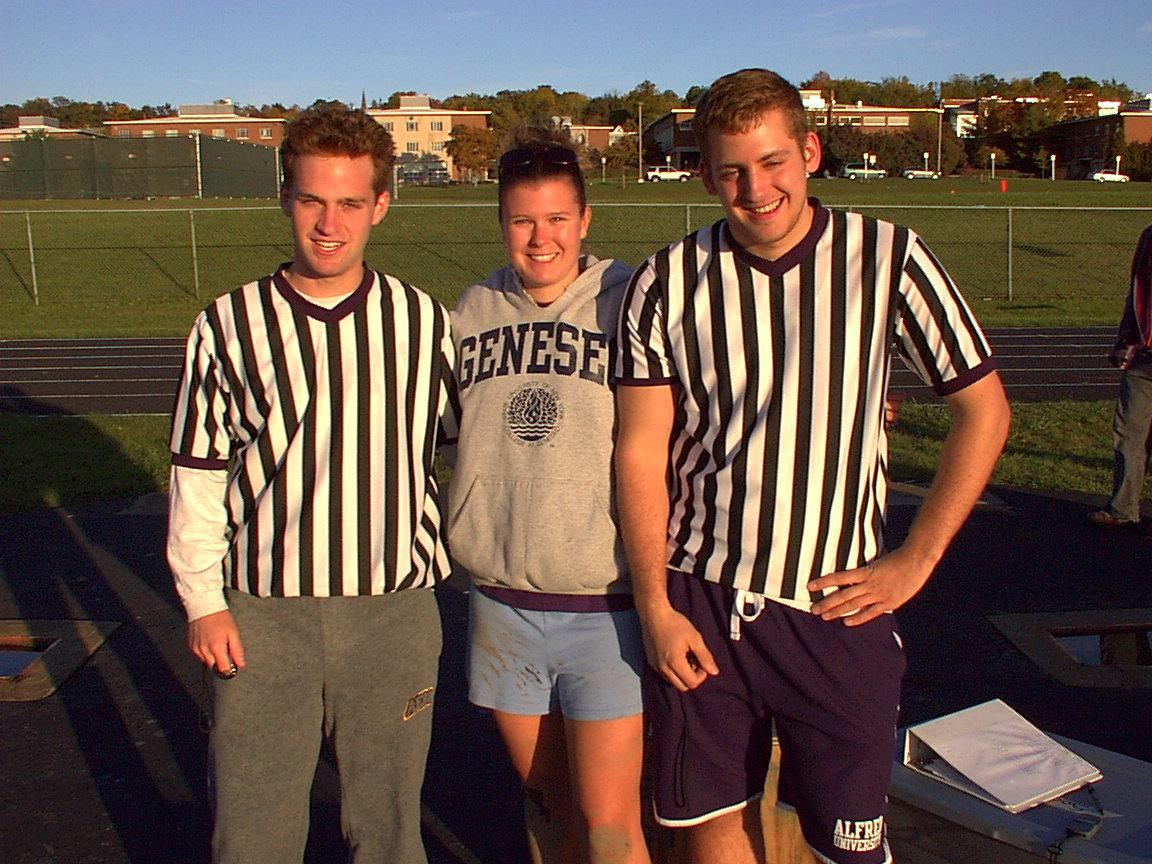 Outdoor soccer supervisor and referees
