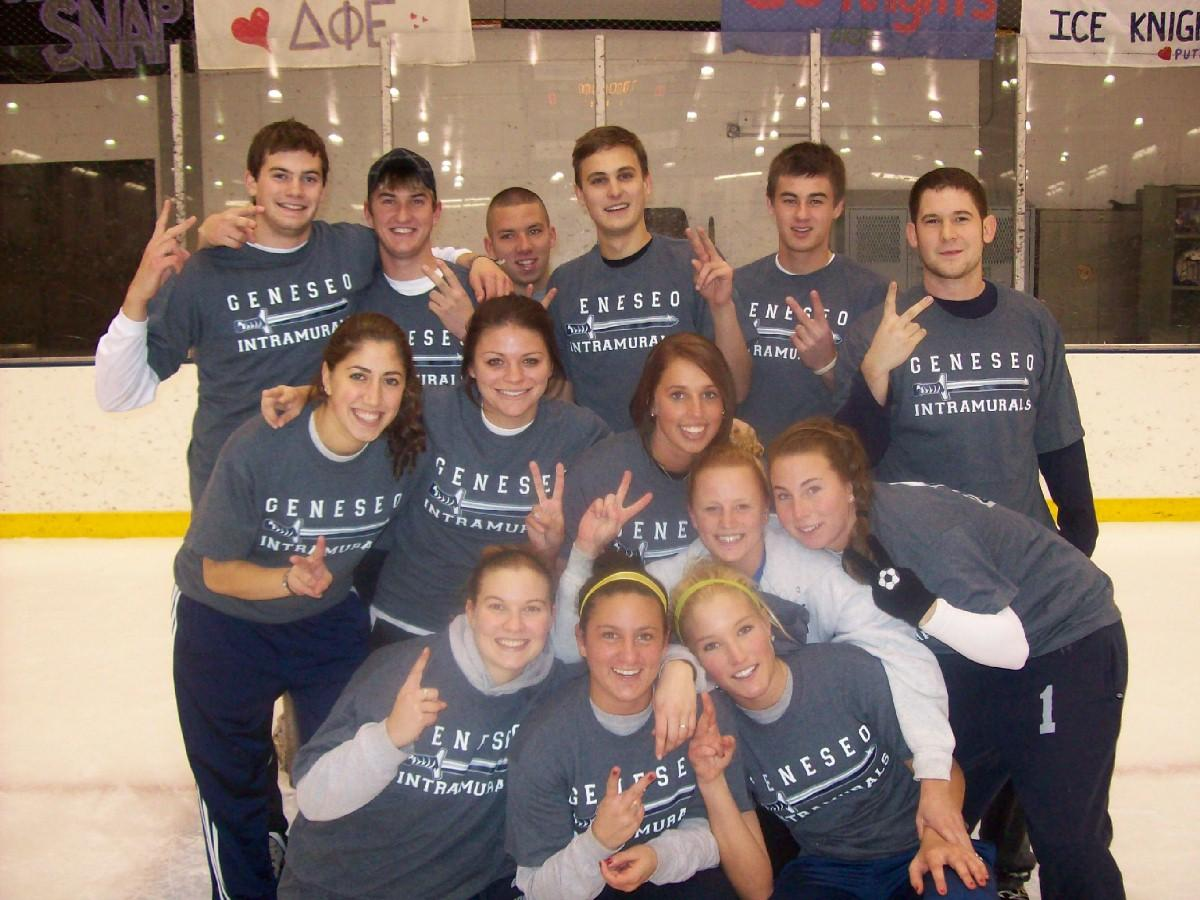 Co-ed Broomball Champs Co-ed 1