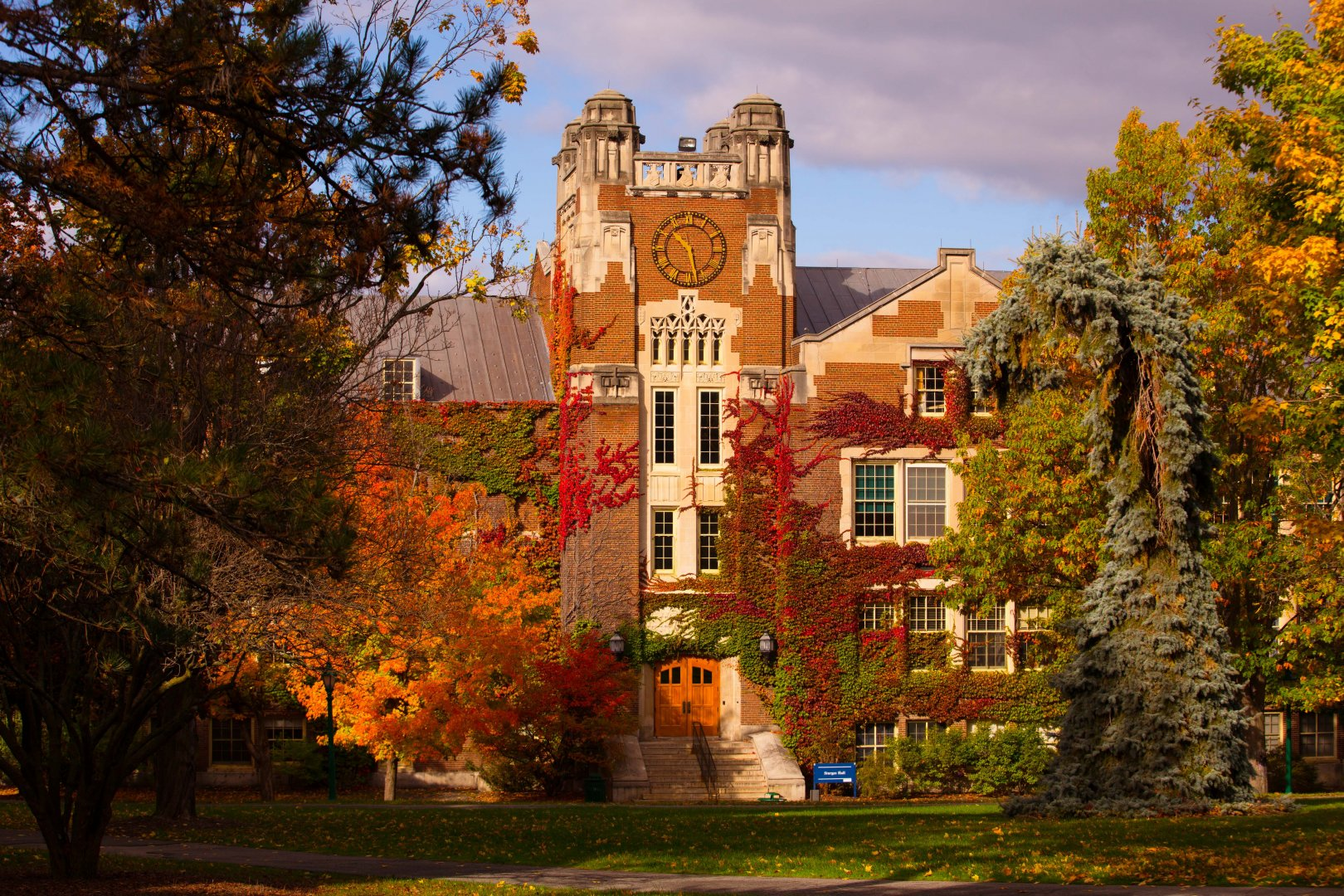 Sturges Hall in the fall