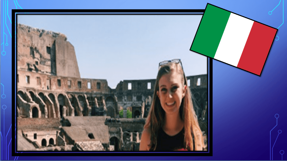 Sarah P. in the Colosseum of Rome, Italy