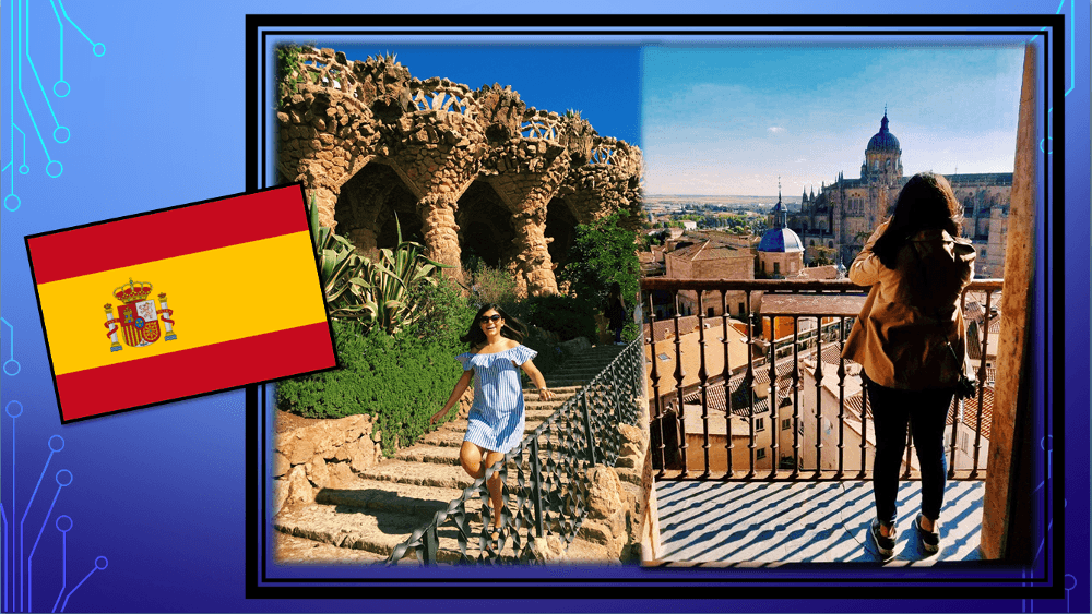 Selin E. in Barcelona and in Salamanca, Spain