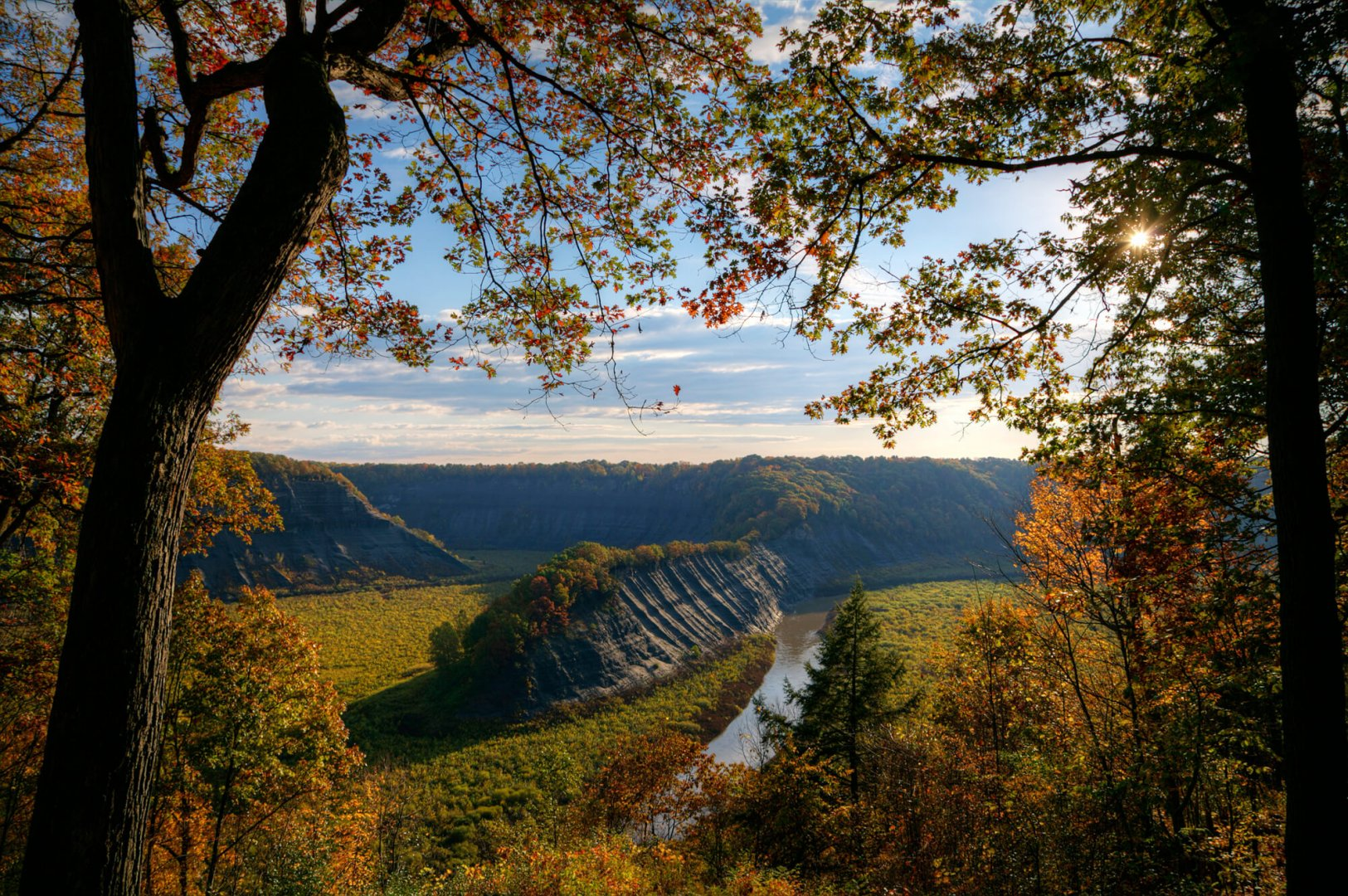 Open Valley - view of Hogsback ridge in Letchworth State Park