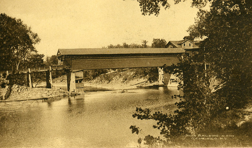 Covered Bridge photo from Genesee Valley Historical Collection