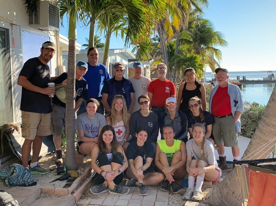 Group of volunteers from our march trip to the Florida Keys