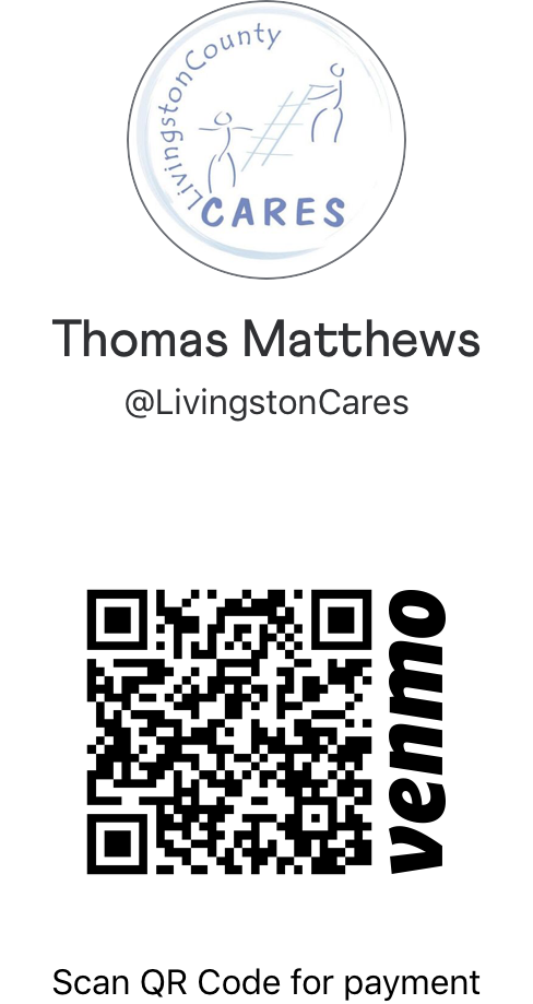 Venmo and CARES logo with QR code to pay by VENMO