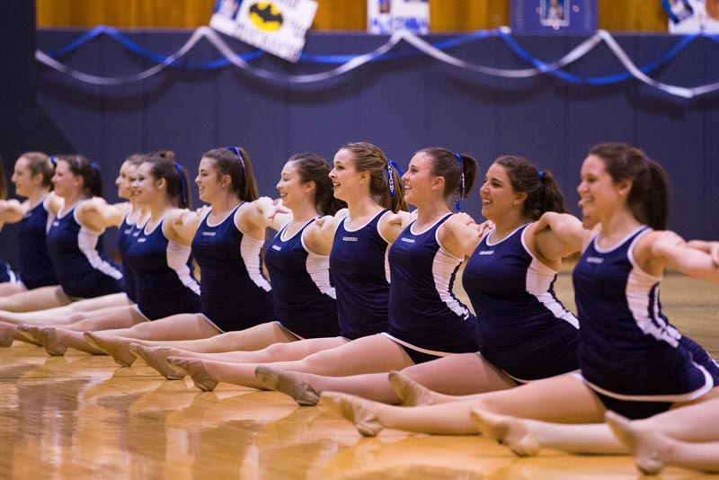 Geneseo's Knightline posing during a performance.