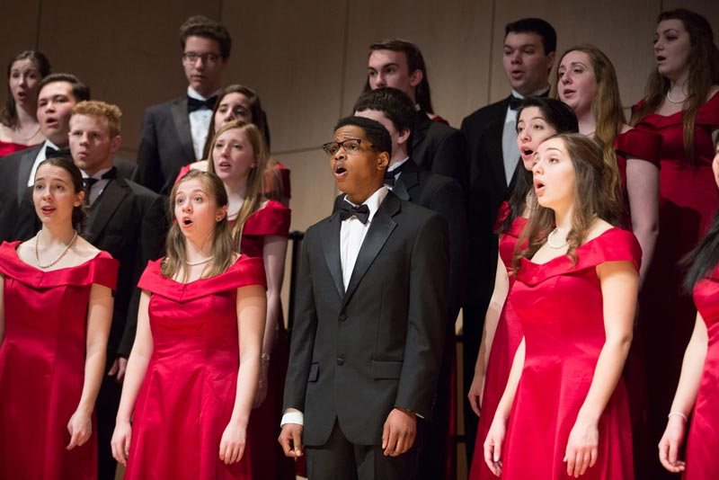 Geneseo Spectrum Women's Ensemble & Men's Choir.