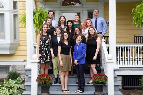 2018-19 Presidential Scholars with President Battles and Provost Robertson