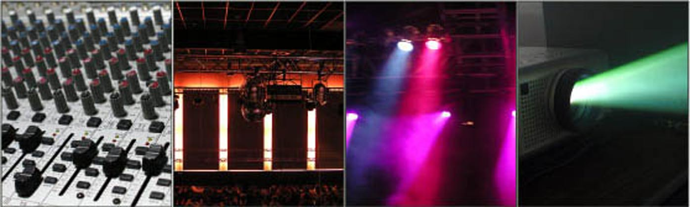 Sound, stage, lighting, projection