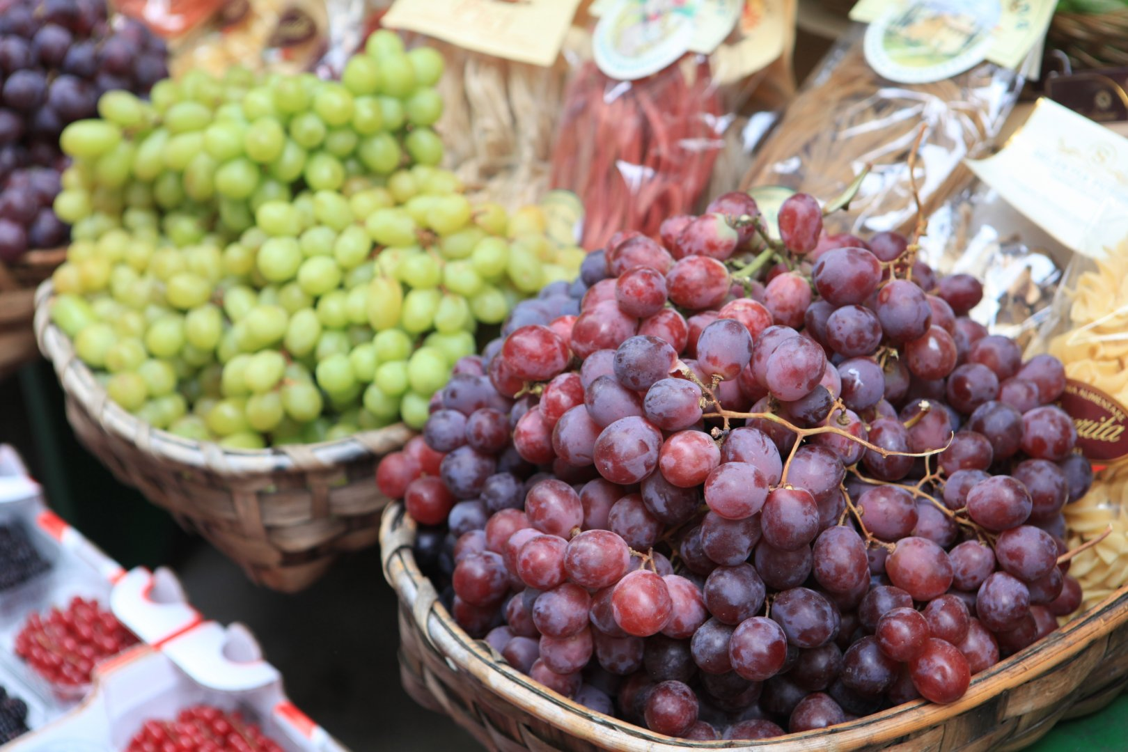 Grapes - fresh produce at a farmer's market