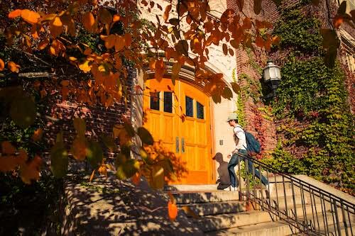 Sturges Hall in fall.