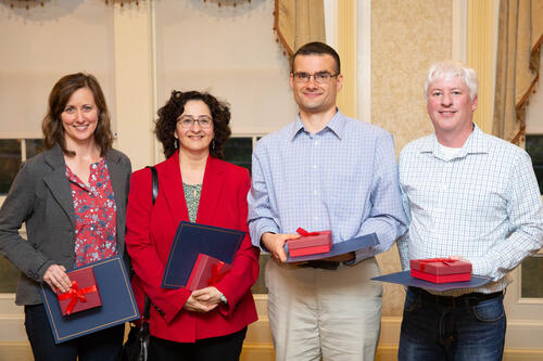 Four winners of Academic Affairs awards