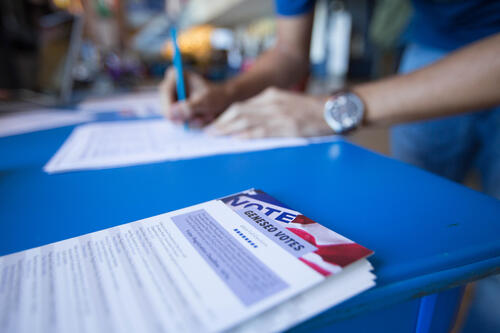 Voter registration forms