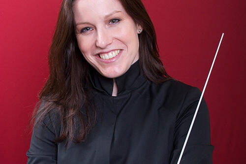 Leah McGray, Geneseo Symphony Orchestra conductor