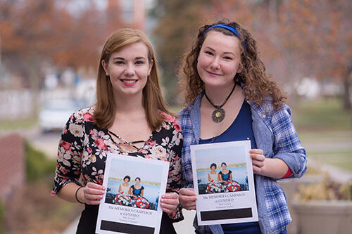 Memories Campaign Editor-in-Chief Holly Gilbert (left) and header interviewer Casey Vincelette