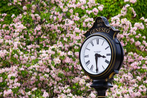 Geneseo campus clock