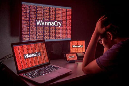 WannaCry ransomware screen