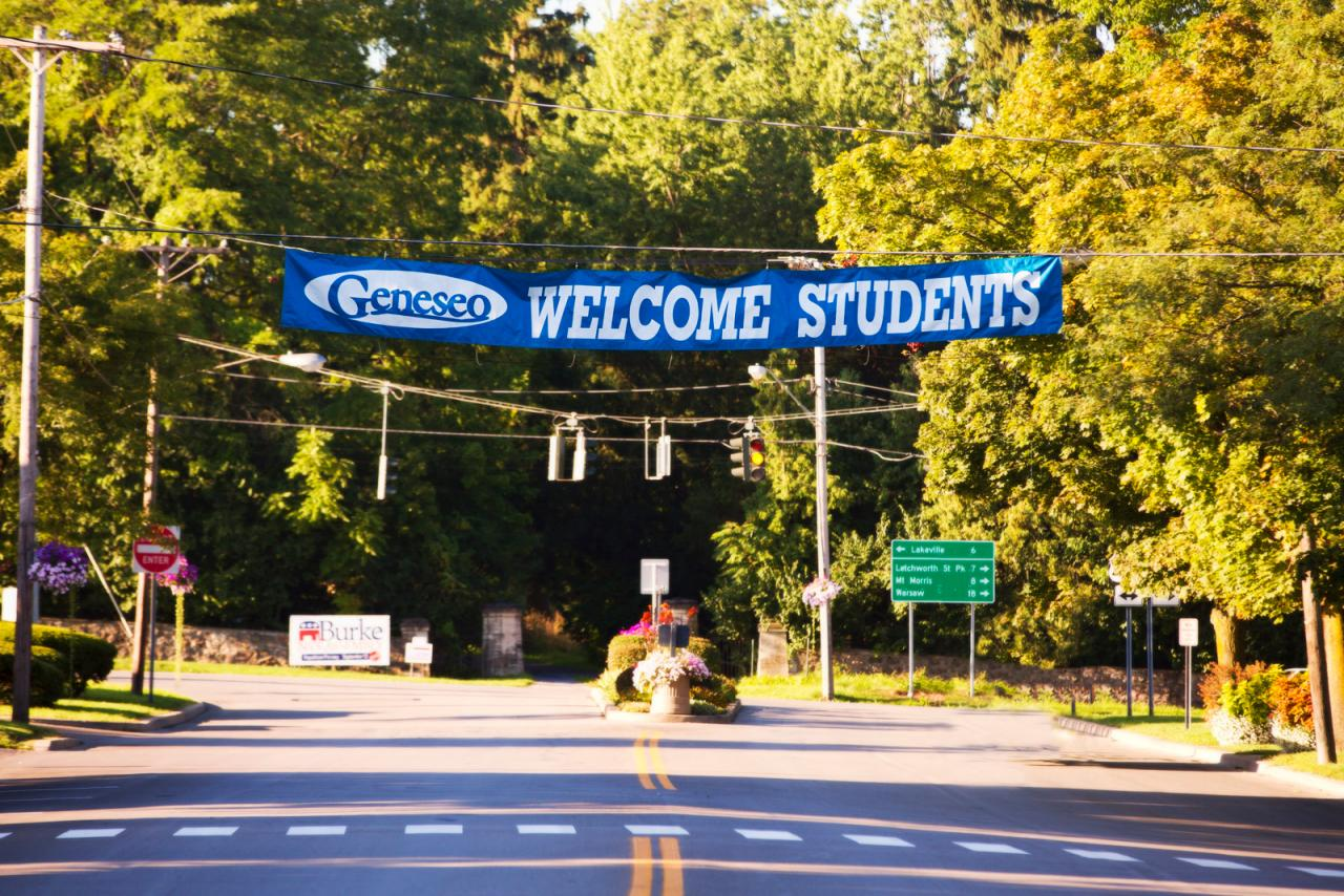 Geneseo Welcome Banner