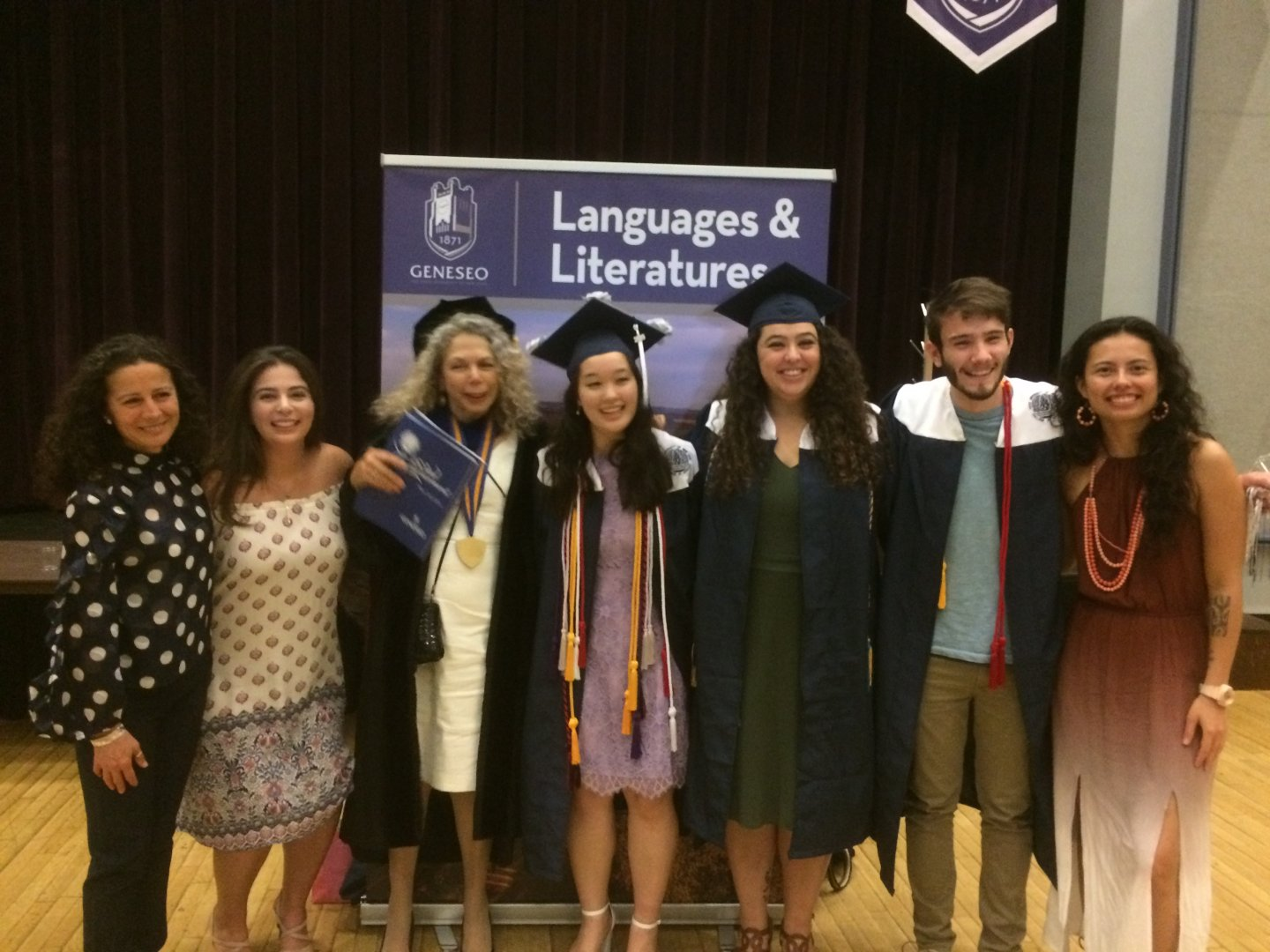 Spanish grads with faculty