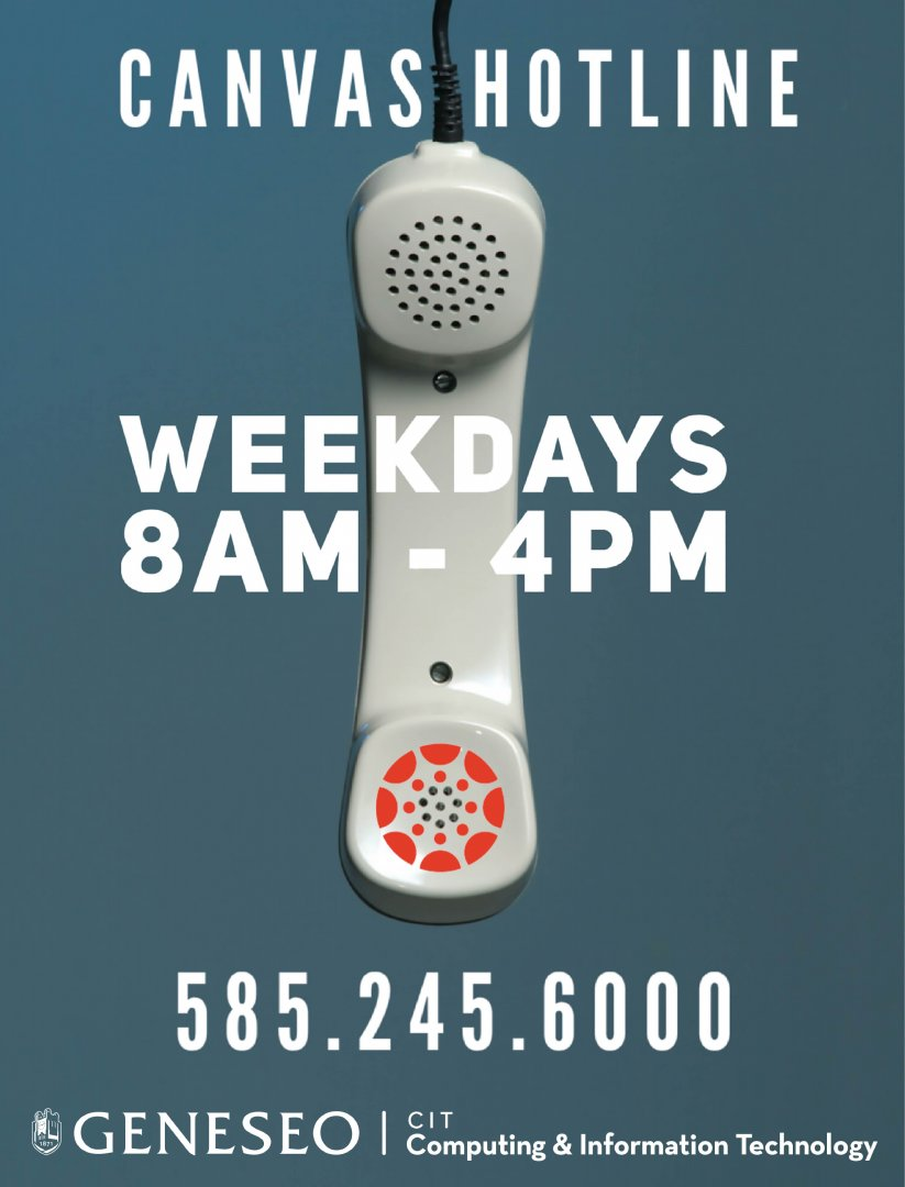 Canvas hotline flyer