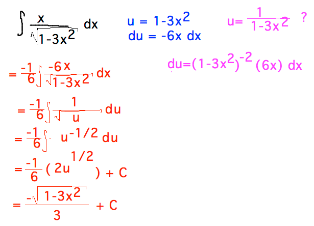 how to solve integration by substitution method