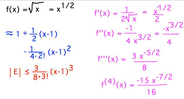 Geneseo Math 222 01 Taylor Series 2