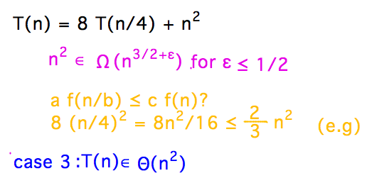 Geneseo Math 303 Master Theorem Use